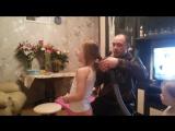Папа делает причёску