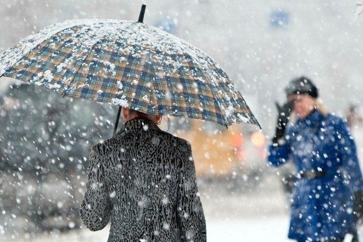 В Таганрог пришло похолодание, ожидается дождь со снегом