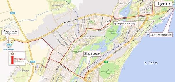 Схема проезда до гостиницы «