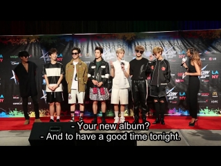 GOT7 Dances Just Right  Talks About The New Album on the Red Carpet at KCON LA 2015!