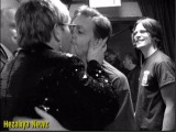 Elton John KISSES Paul McCartney On The MOUTH...Backstage at NYC Concert!!