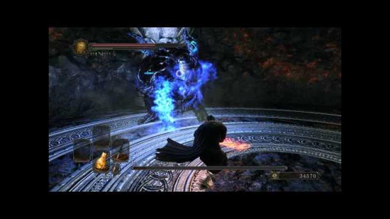Dark Souls II 2 DLC Босс: Демон из плавильни (Smelter Demon). Melee, no shield.