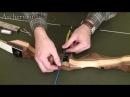Установка пластиковой полки на рукоятке лука