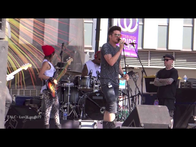HD Adam Lambert - Sound Check Part 2 - Pittsburgh Pride (Shady Shout)