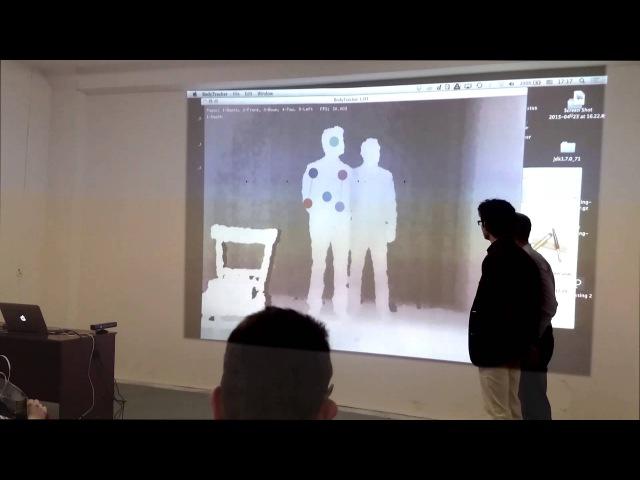 Эксперименты по трекингу частей тела с помощью камеры глубины (АГВЗ'15:8:2)