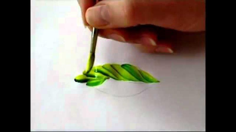 переходной мазок листок петриковская роспись