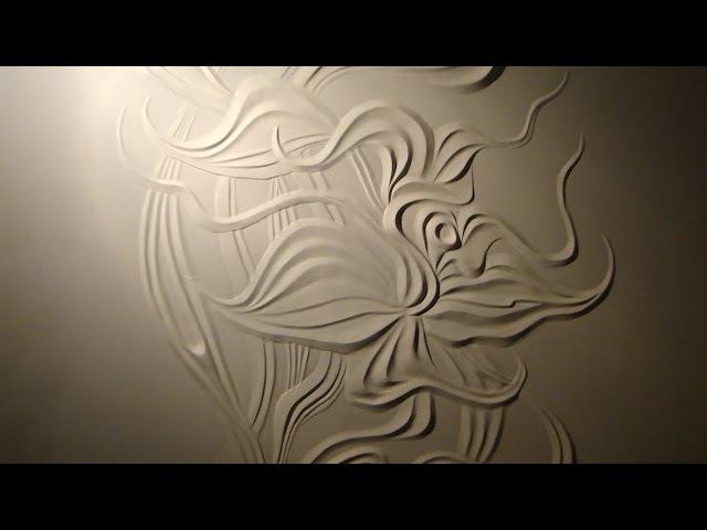Мастер класс Барельеф цветка из гипсовой шпаклёвки своими руками