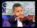 Трехлетний скрипач. 3 year old violinist, Akim Camara