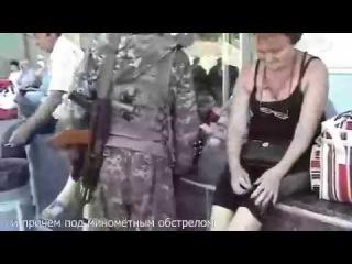Дончане прогнали террориста Гиви, который призывал их идти воевать или рыть окопы