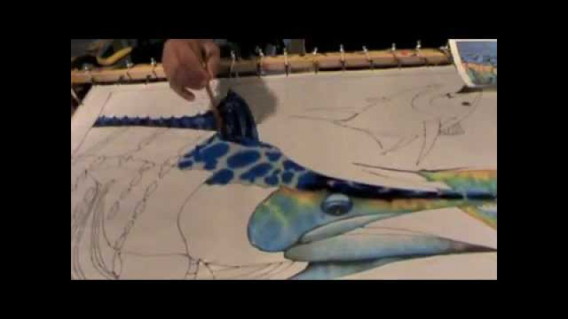 SILK PAINTING WITH JEAN-BAPTISTE - MARLIN