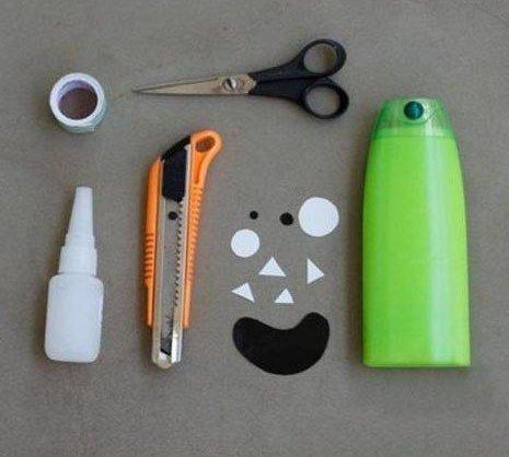 Как сделать подставки для карандашей-монстров из бутылок от шампуня… (5 фото) - картинка