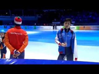 [2015 유럽선수권] 남자 500m 결승전 - 안현수 + 시상식