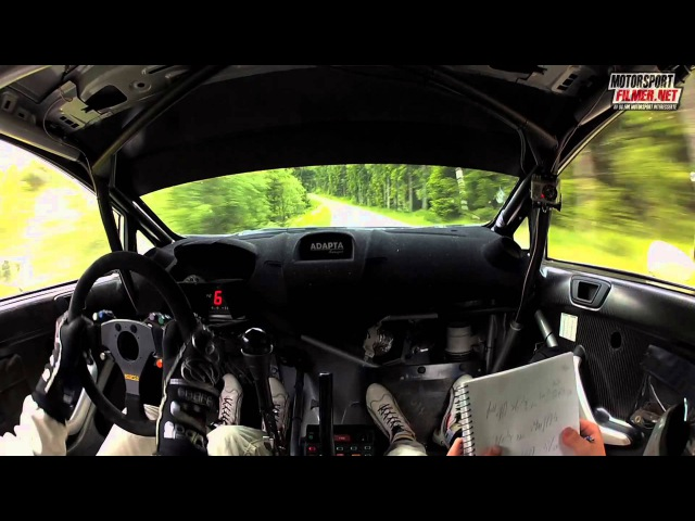 Inboard Frank Tore Larsen Ford Fiesta WRC - Sørlandssprinten SS4 2013