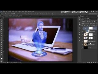 63.[Ps] Hologram Effect | - Photoshop Tutorial [In Hindi]\\kj