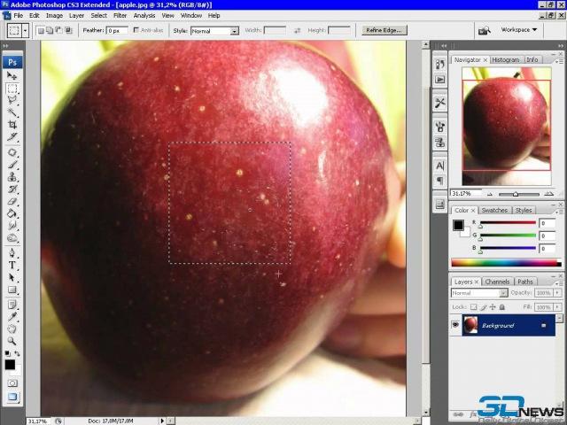 45Редак тирование тестур в Photoshop Создание текстуры для 3D модели яблока 8587