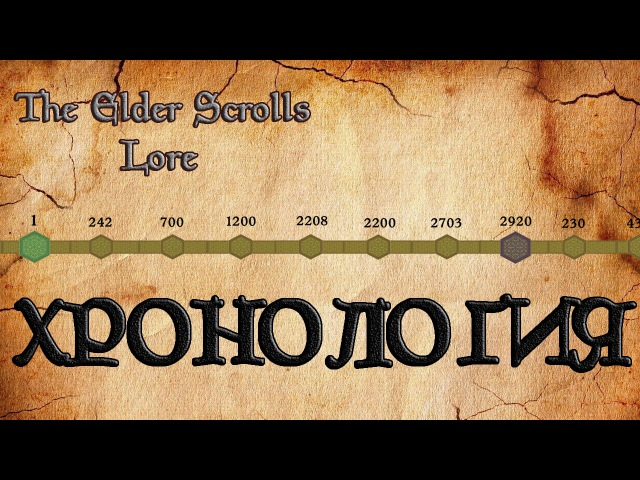 Хронология мира The Elder Scrolls TES Лор AshKing