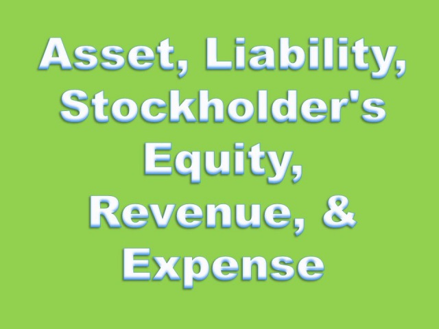 Financial Accounting Definitions: Asset, Liability, Stockholder's Equity, Revenue, Expense