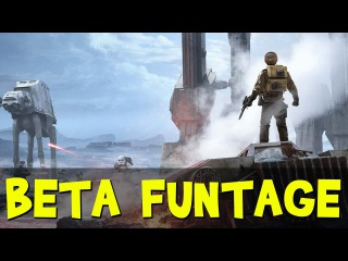 BETA FUNTAGE! - Star Wars Battlefront (Funny Moments Gameplay)