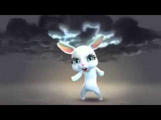 Белый зайчик под спайсом танцует лезгинку