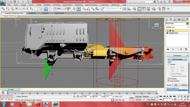 Анимация рамы в SPIN TIRES на примере стандартного МАЗ-а 537 1PdEP--MI8k