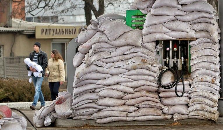 На АЗС в Донецке