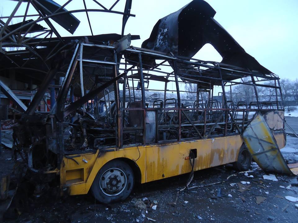 Автостанция Центр после обстрела