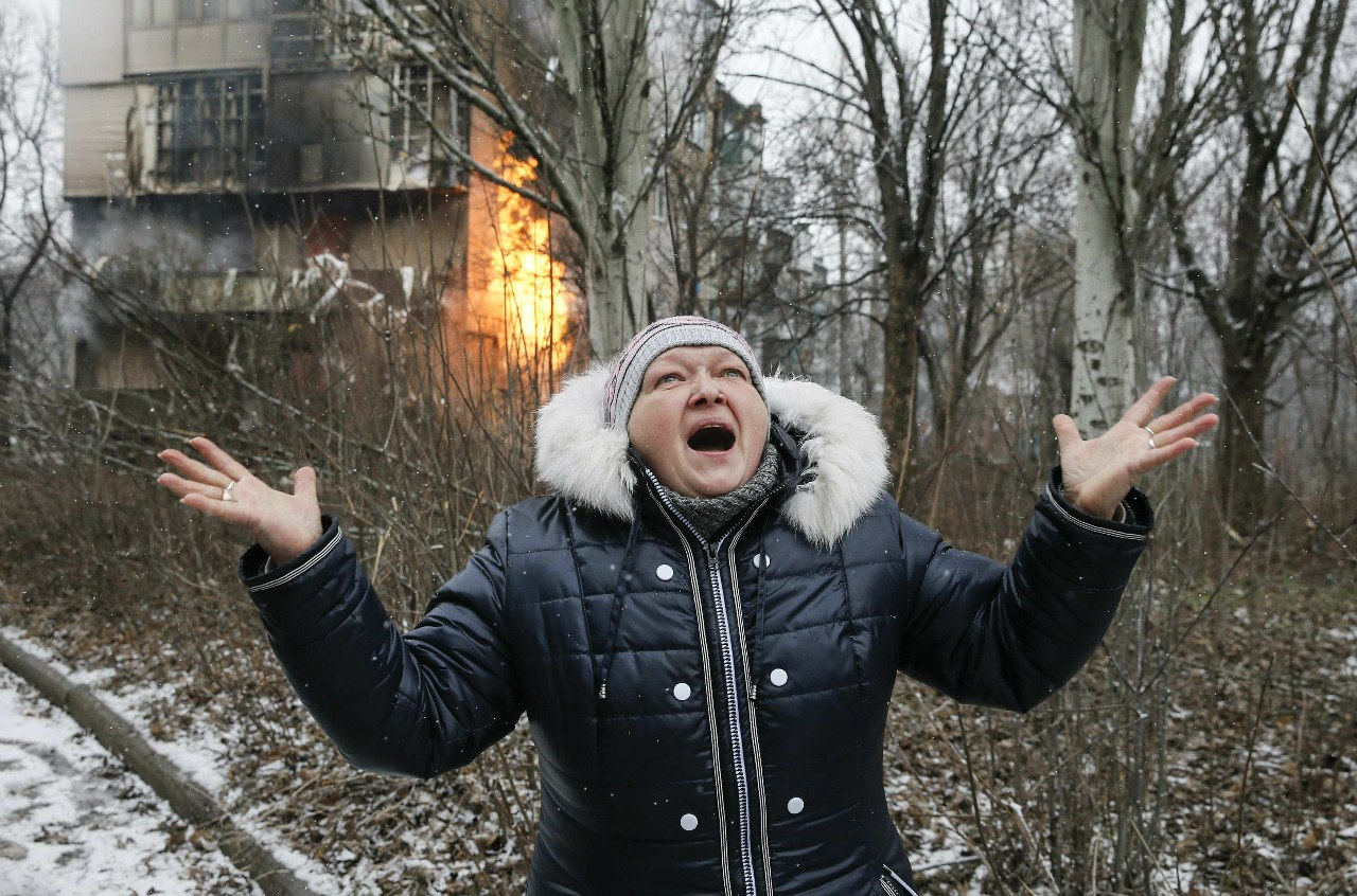 Обстрел окраин Донецка