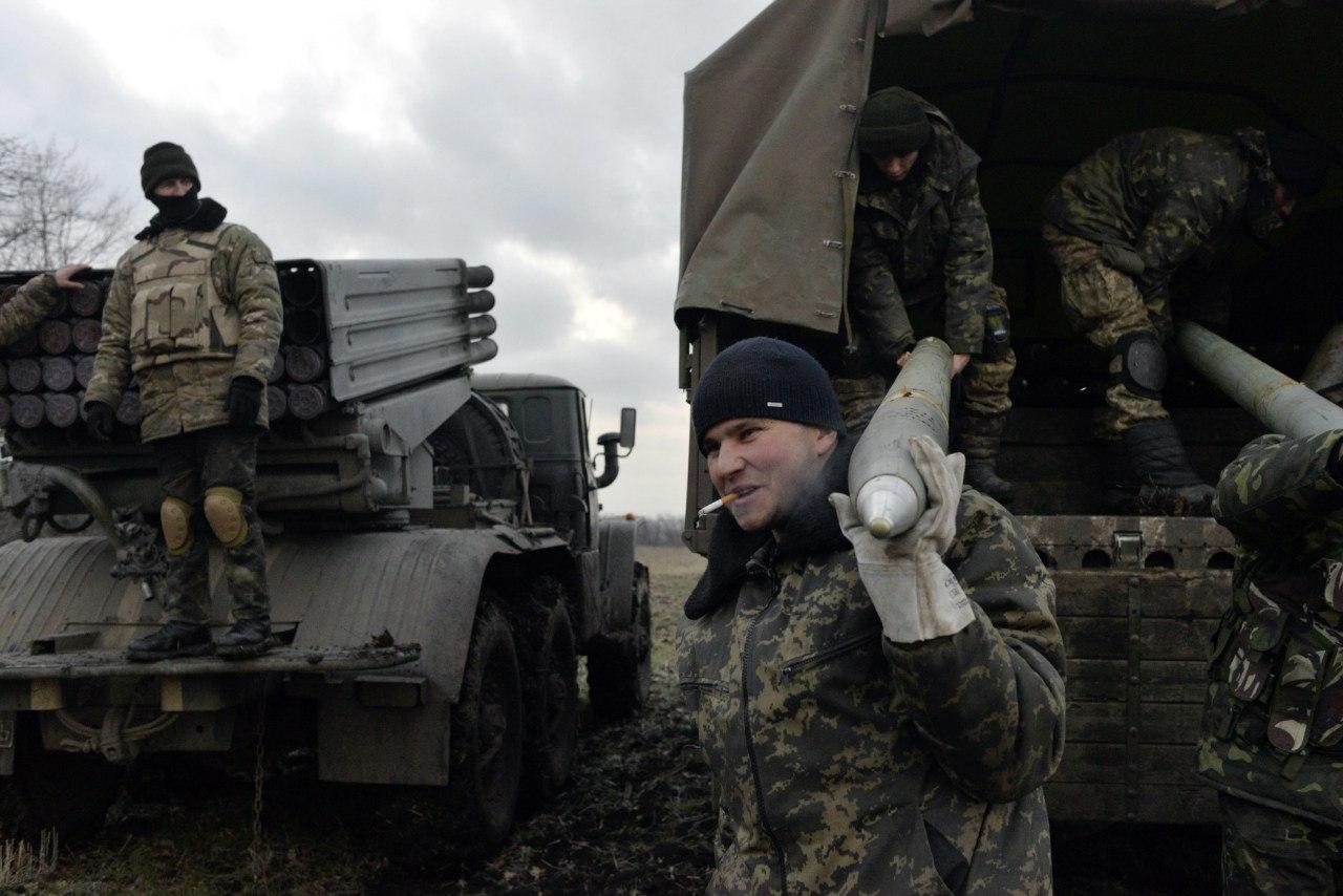 Украинские военные на позициях