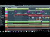Glitch Hop / Moombahcore drop in FL Studio 10 [ ''Over and Over'' by Locksitch ]