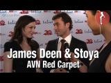 Pr Stars on the Red Carpet - James Deen & Stoya at the 2013 AVN Awards