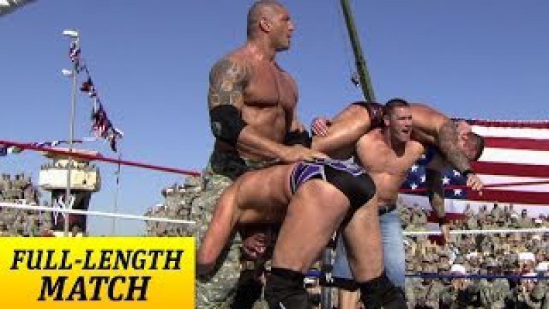 John Cena Batista Rey Mysterio vs Randy Orton Jeri Show Tribute to the Troops Dec 20 2008