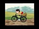 Лёлик и Болик на велосипеде