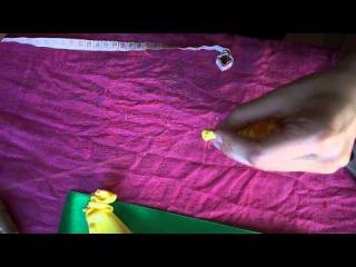 Как сделать бантики для заколки, делаем розочки из лент.