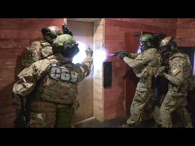 спецназ СБУ Альфа отработал штурм и попадание в засаду 10 10 15
