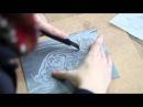 изо проект ПАРТА видеоурок линогравюра how to make a Lunocut