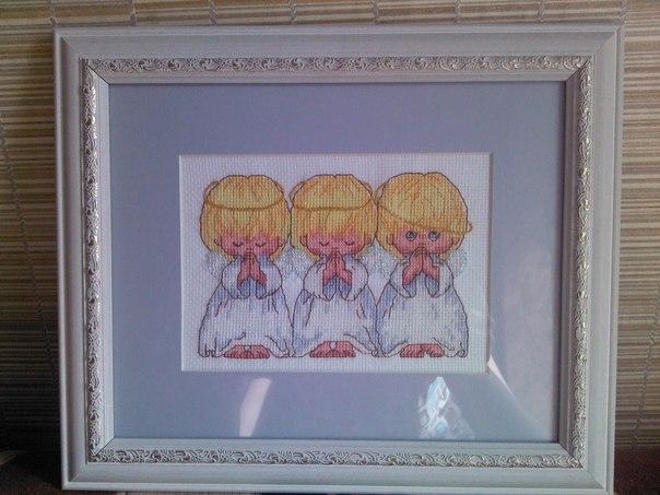 вышивка трех ангелочков от