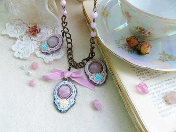 Нежные украшения в стиле винтаж и шебби-шик выполню для Вас в любом цвете… (3 фото) - картинка