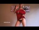 Ideal Body Girl ∞ Love Gisele аппетитная фитнес модель в красном мини платье раздевается на камеру, супер попка, стринги, секс