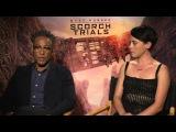 MAZE RUNNER THE SCORCH TRIALS Cast Q&ampA - Giancarlo Esposito &amp Rosa Salazar
