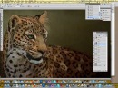 Aaron Blaise painting a leopard in photoshop.