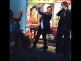 Keanu Reeves having fun learning some Bollywood moves at the Neiman Marcus press event this morning! Read more at http://websta.