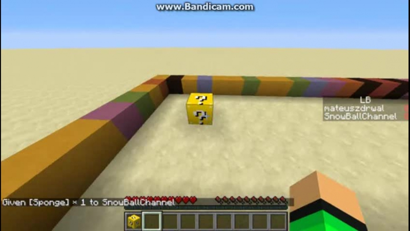 Видео майнкрафт как сделать лаки блоки без
