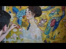 Art Reproduction (Gustav Klimt - Lady with a Fan) Hand-Painted Step by Step