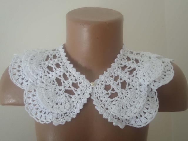 Двойной воротничок Часть 1 Double the collar Crochet Рart 1