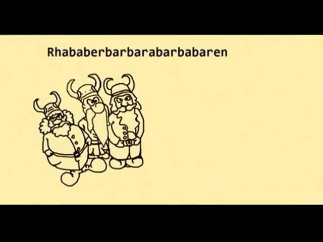 Eine Quatsch Geschichte - Rhabarber - Kuchen - Barbara - Geld - Bar - Barbaren - Bart - Bärte