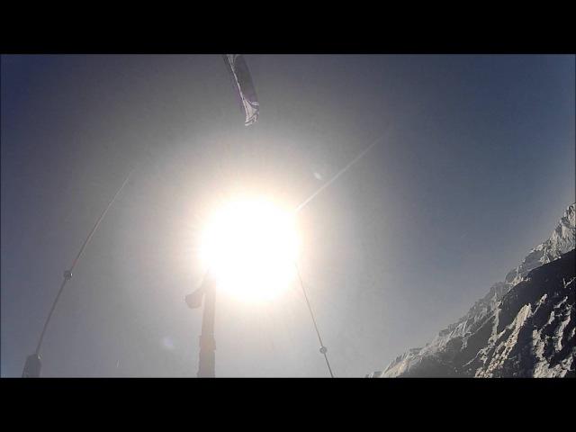 World record 1500m high snowkite flight