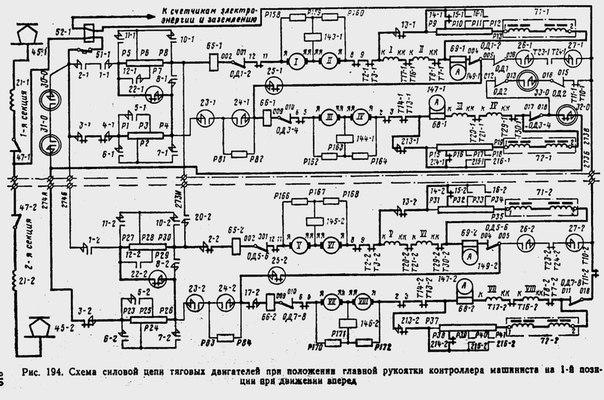 Электрическая схема ВЛ10 на