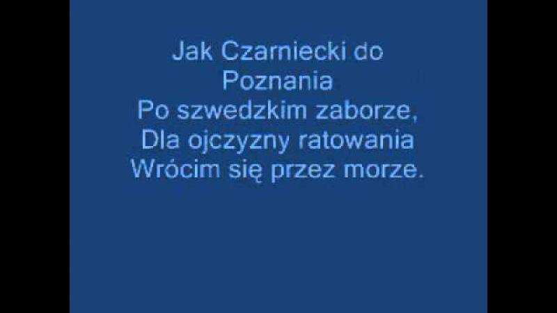 Hymn Polski-Mazurek Dąbrowskiego(caly)tekst