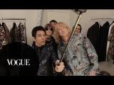 Anna Wintour Talks Runway Walks with Derek Zoolander and Hansel Backstage at Valentino