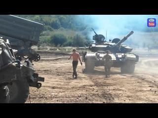 Танк в зоне боевых действий. Tank on The battlefield